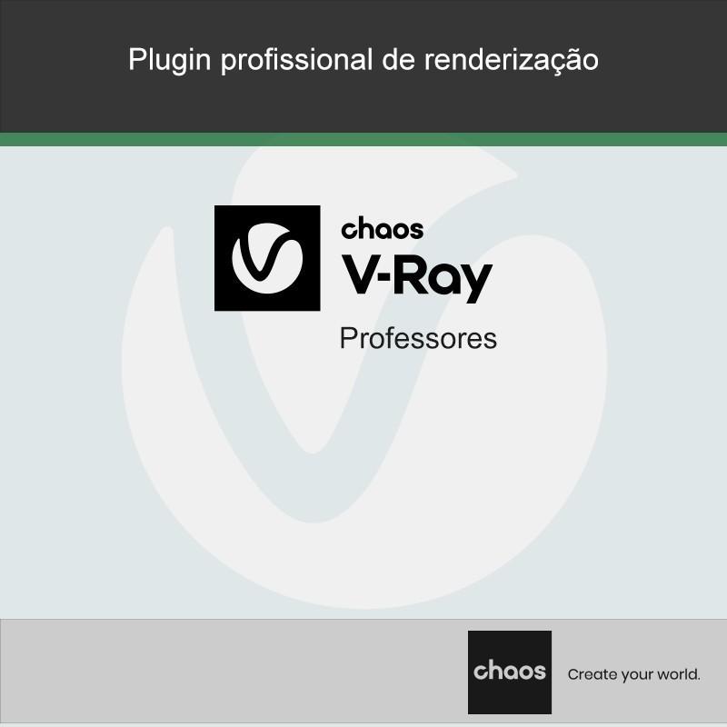 Os Professores têm disponíveis a preços especiais as versões atualizadas dos produtos V-Ray. Válidas por um ano, incluem todas as atualizações durante o período em vigência.