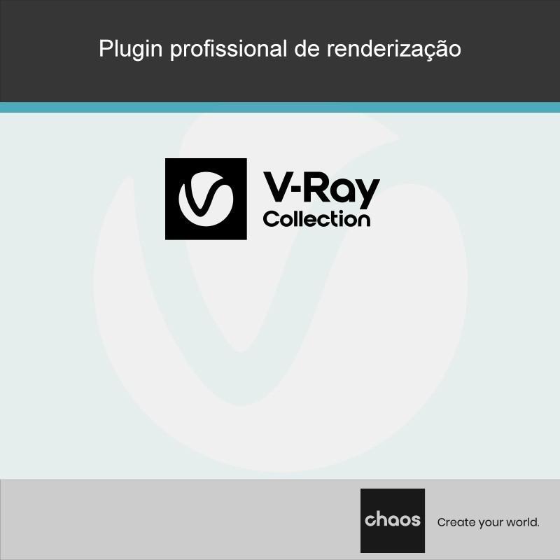 O V-Ray Collection combina o software mais poderoso que precisa sem se preocupar com inúmeras licenças. Obtenha o V-Ray, Phoenix FD, Chaos Vantage, Chaos Cloud e VRscans numa única coleção.