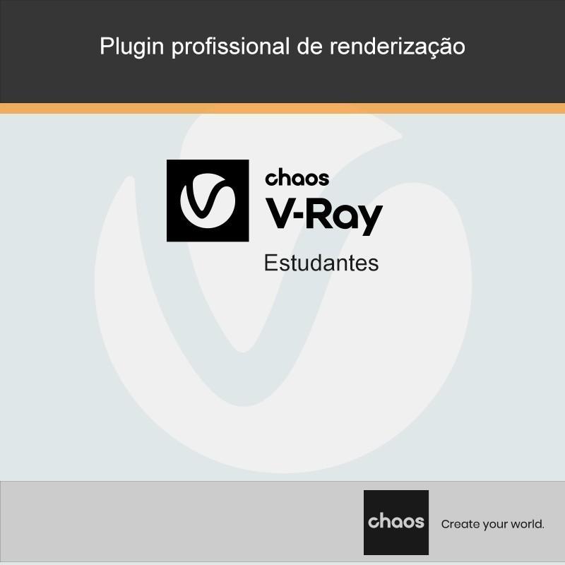 Os estudantes têm disponíveis a preços especiais as versões atualizadas dos produtos V-Ray. Válidas por um ano, incluem todas as atualizações durante o período em vigência.